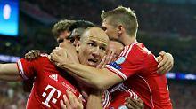 Wembley, 25. Mai 2013: arjen Robben hat soeben den Siegtreffer erzielt. Und jetzt raten Sie mal, für wen.