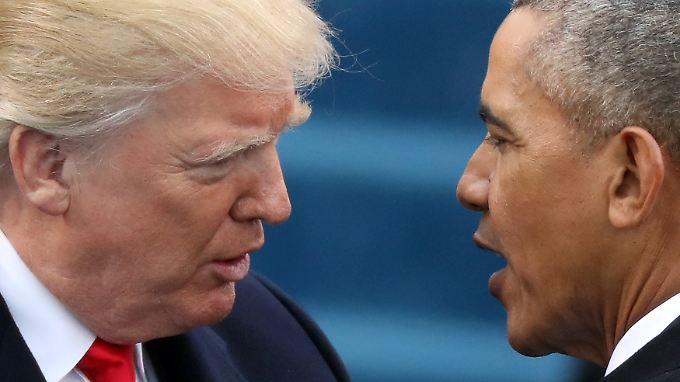 Vorwürfe ohne Belege: Trump und sein Amtsvorgänger Obama.