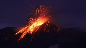 Zehn Verletzte in Italien: BBC-Team filmt Lava-Explosion auf dem Ätna