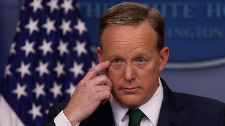 """Sean Spicer hat """"Unsinn"""" (so das GCHQ) verbreitet und will es nicht wieder tun."""