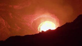 Glühend heißer Lavasee: Google Street View blickt tief in Vulkanschlund