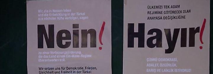 """Trotz Einschüchterungsversuchen: Mutige Türken werben für """"Nein"""" beim Referendum"""
