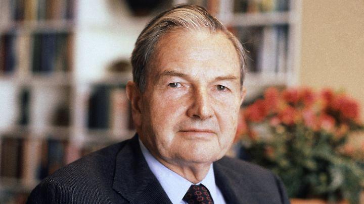 Familienpatriarch, Ex-Banker und Milliardär: David Rockefeller wurde 101 Jahre alt.