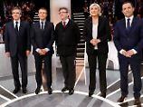 Streit über Islam und EU: Le Pen und Macron dominieren TV-Debatte