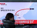 Pjöngjang provoziert mit Test: Nordkorea-Rakete nach Start explodiert