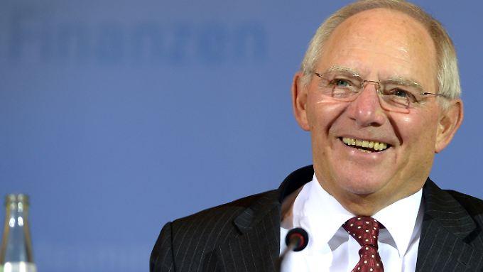 Bundesfinanzminister Wolfgang Schäuble hat derzeit gut lachen.