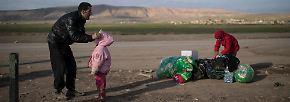 Iraks Regierung hofft auf Trump: Flüchtlinge aus Mossul wissen nicht wohin