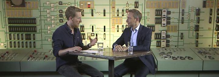 """Lindner bei """"Klamroths Konter"""": """"Die FDP ist nicht nur ich"""""""