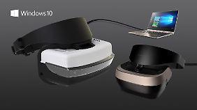 Für die neuen VR-Fähigkeiten von Windows 10 soll's günstige Brillen geben.