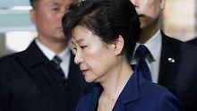 Korruptionsskandal um Park: Haftbefehl gegen Südkoreas Ex-Präsidentin