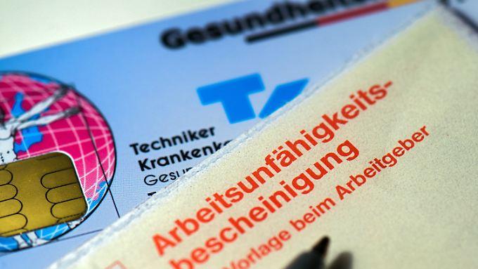 Insgesamt sind 2016 5,77 Millionen Fälle von Arbeitsunfähigkeit bei der TK registriert worden.