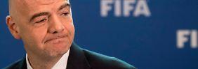 """""""Nun wieder auf den Fußball konzentrieren"""": Gianni Infantino."""