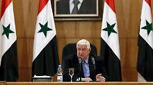 Außenminister bezieht Stellung: Syrisches Regime bestreitet Giftgaseinsatz