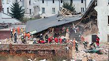Noch ein Bewohner vermisst: Fünf Polen sterben bei Hauseinsturz