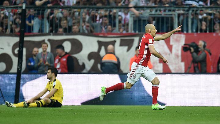 Arjen Robben gibt in der entscheidenden Phase der Saison die Richtung beim FC Bayern München vor.