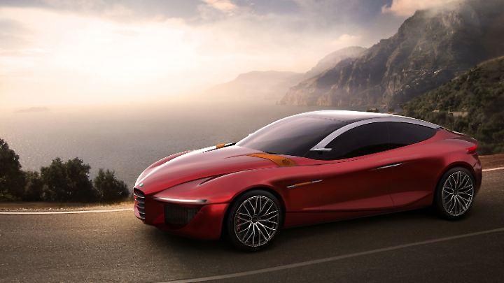 So stellten sich Designer 2003 ein Luxusauto von Alfa vor.