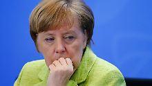 Gespräche und Raketen: Merkel und Trump fordern Syrien ohne Assad