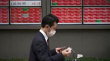 Kursverluste in Tokio.