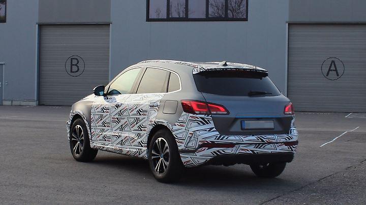 Der neue Borgward BX7-EV als Erlkönig. Das SUV soll in Bremen gebaut werden.