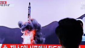 Provokation nach Militärparade: Nordkoreas neuer Raketentest scheitert offenbar