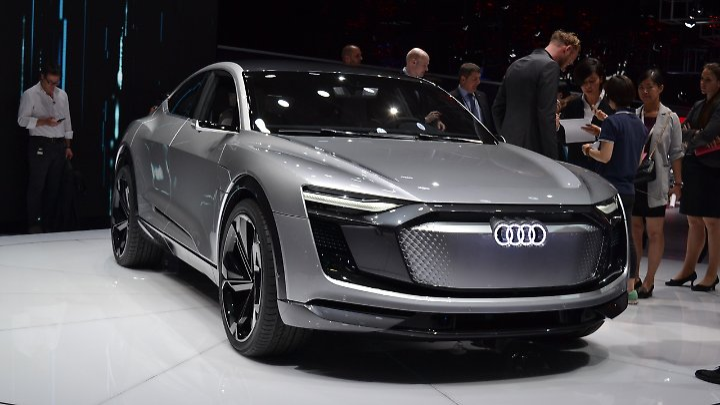 Audi hatte mit dem E-Tron Sportback das schnittigste E-Auto für Shanghai im Gepäck.