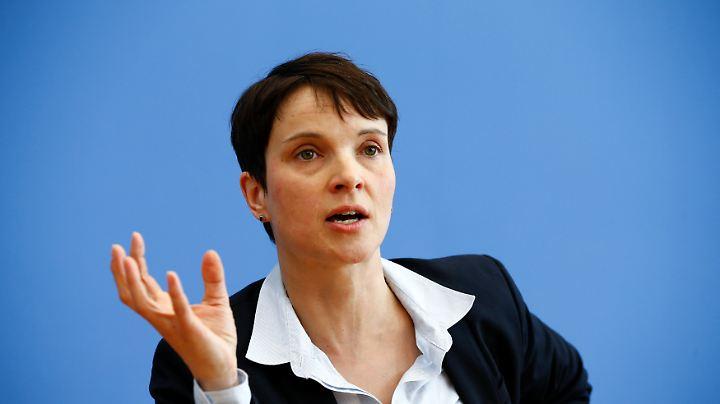 Frauke Petry beendet Spekulationen über ihre Kandidatur.