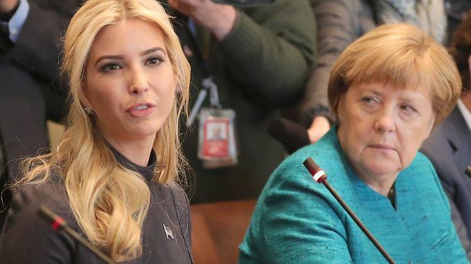 Im März traf Ivanka Trump in Washington auf die deutsche Bundeskanzlerin Angela Merkel.