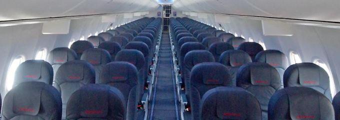 Sitze in einem Flugzeug
