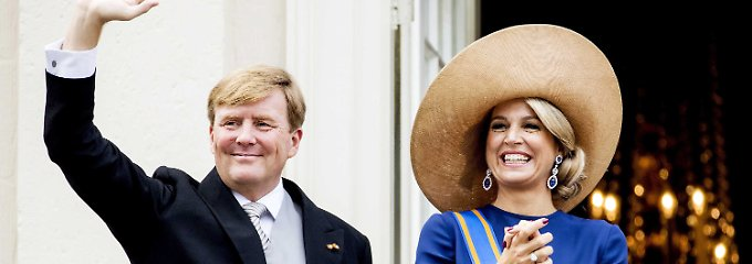 Glückliches Königpaar: Willem-Alexander und Máxima.