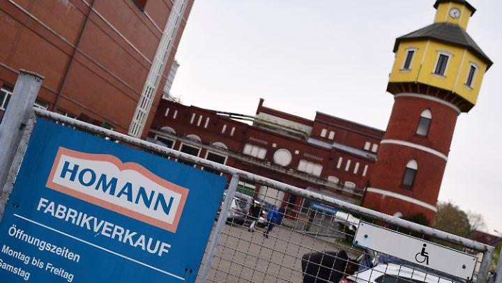 Der Konzern Theo Müller will Werke seiner Tochter Homann schließen - darunter auch diese Fabrik in Dissen.