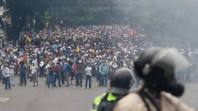 Massenprotest in Caracas.