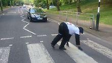 Mr Gorilla ist kein Unbekannter. Schon im vergangenen Jahr gab er den Gorilla beim Marathon.
