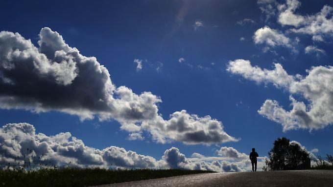 Größere Wolken kommen auf mehrere Tonnen Gewicht.