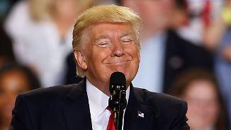 Rede vor Anhängern statt Pressedinner: Trump lobt sich selbst und verspottet die Medien