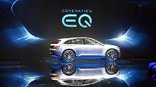"""Eine Elektroauto-Studie von Mercedes-Benz der Generation """"EQ""""."""