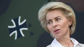 Rechte Gesinnung in der Bundeswehr: Von der Leyen macht Vorgesetzte mitverantwortlich