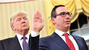 Wahlversprechen Finanzregulierung: Trump und Mnuchin prüfen Bankenspaltung