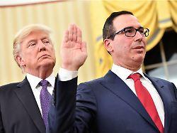 """""""Unternehmer beobachten Zinsen"""": Mnuchin verteidigt Trumps Kritik an der Fed"""