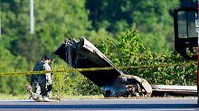 Zwei Menschen sterben: Frachtflugzeug verunglückt in West Virginia