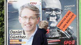 Spannende Wahl in Schleswig-Holstein: Albig und Günther liefern sich Kopf-an-Kopf-Rennen