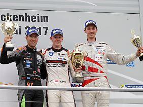 Podium (v.l.n.r.): Michael Ammermüller, Dennis Olsen, Christopher Zöchling.