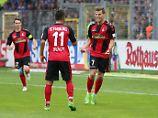 Florian Niederlechner bescherte seinen Freiburgern im Duell mit Schalke einen Doppelpack.