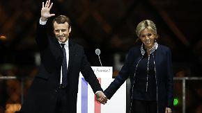 """Frankreichs präsidiales Liebespaar: Macron: """"Meine Ehe ist mir das Wichtigste"""""""