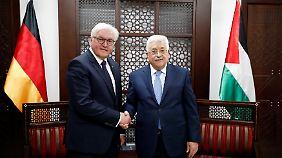 Abschluss der Nahost-Reise: Steinmeier redet mit Abbas über Friedensprozess
