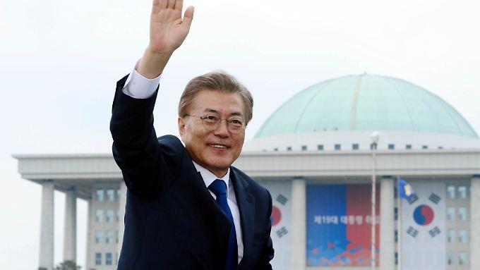 Der linke Politiker Moon Jae In wurde mit starker Mehrheit als neuer Präsident von Südkorea gewählt.