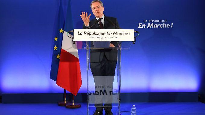Ferrand warb für die Kandidaten der Bewegung.