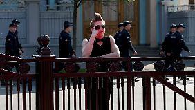Gefeiert wird in Kiew unter massiven Sicherheitsvorkehrungen.