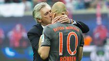Bayerns Trainer Carlo Ancelotti über die Zukunft der RB-Mannschaft.