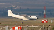 Ein deutsches Transportflugzeug landet in Incirlik.