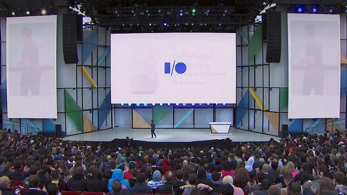 Wie immer gut besucht: Google eröffnete die I/O mit einer langen Keynote.